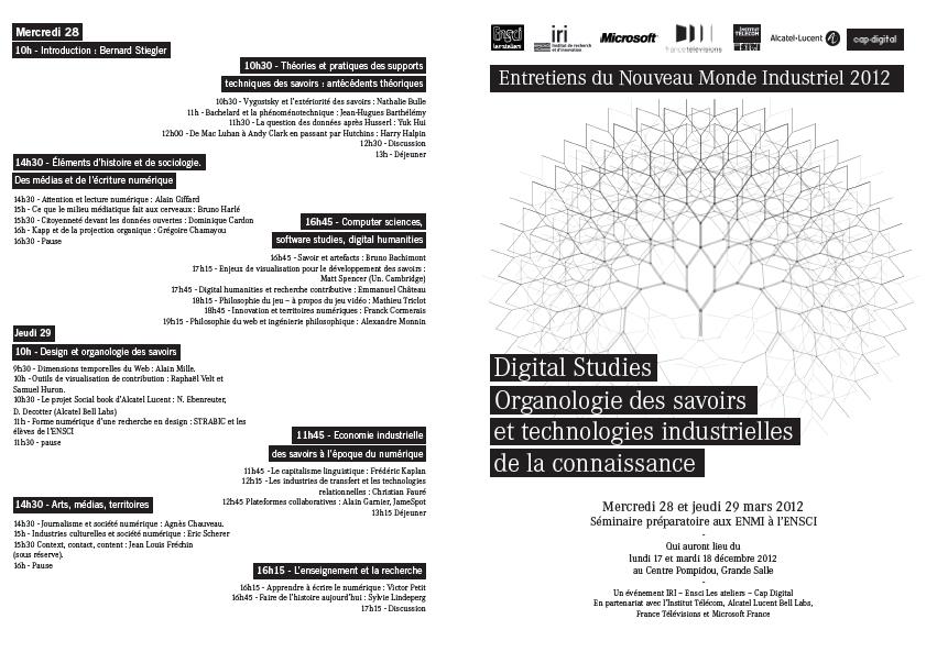 Programme ENMI maris 2012