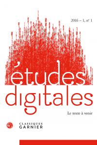 Parution de la revue Etudes digitales n°1